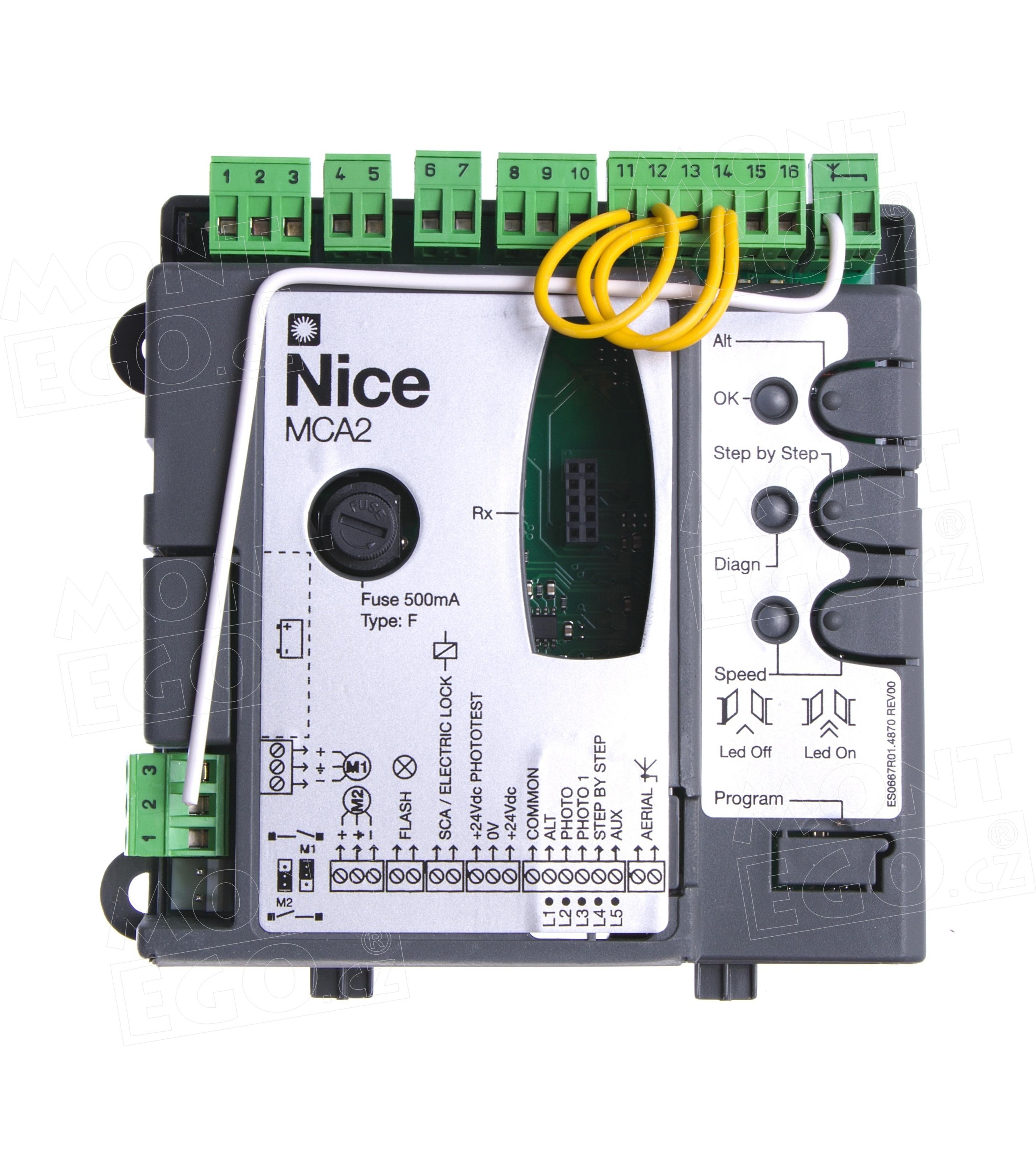 Nice MCA2 řídící jednotka pro pohony křídlových bran Nice