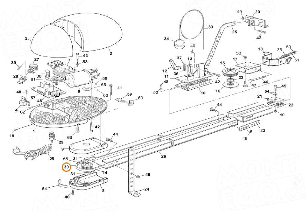 PMCCDR01.4630 ozubený řemen široký 8 mm pro pohony garážových vrat Nice a Mhouse