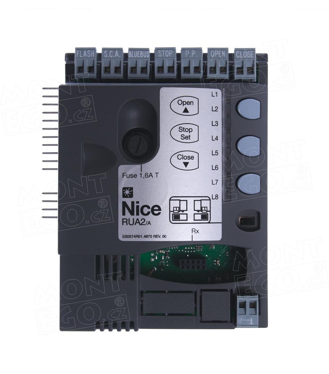 Nice RUA2/A řídící jednotka pohonu brány Nice RUN2500i