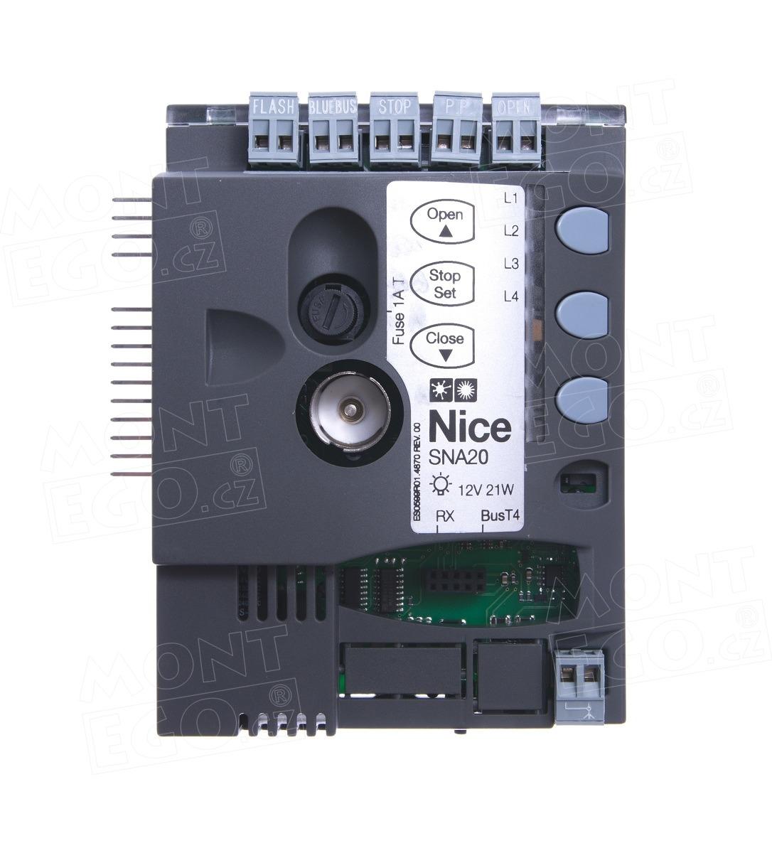 Nice SNA20 řídící jednotka pro pohony vrat Nice SPIN23
