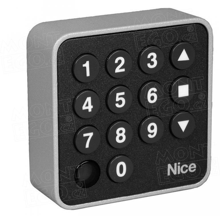 Nice EDSW bezdrátová ovladací klávesnice pro pohony bran, 3 kanálová