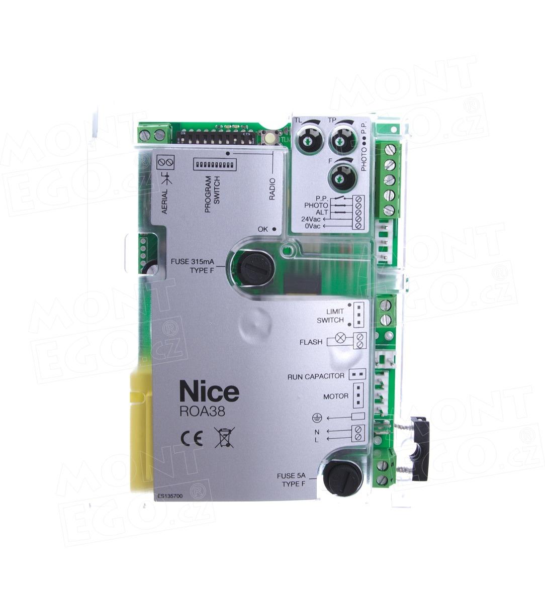 Nice ROA38 náhradní elektronika pro pohony posuvné brány Nice ROX600