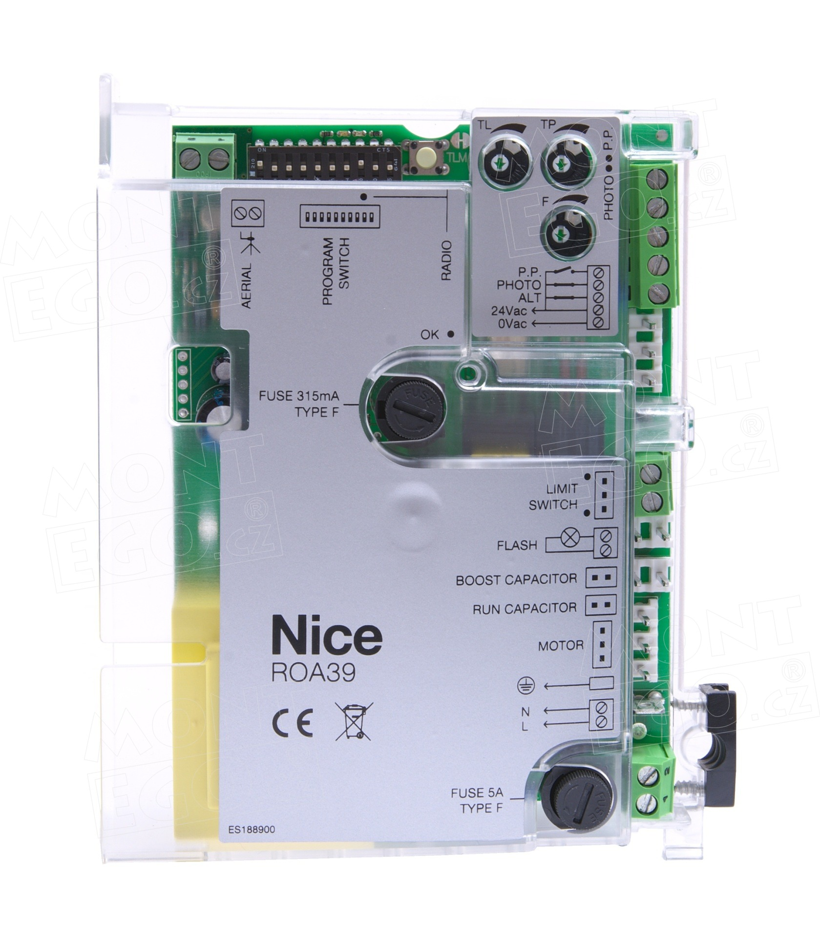 Nice ROA39 náhradní elektronika pro pohony posuvné brány Nice ROX1000