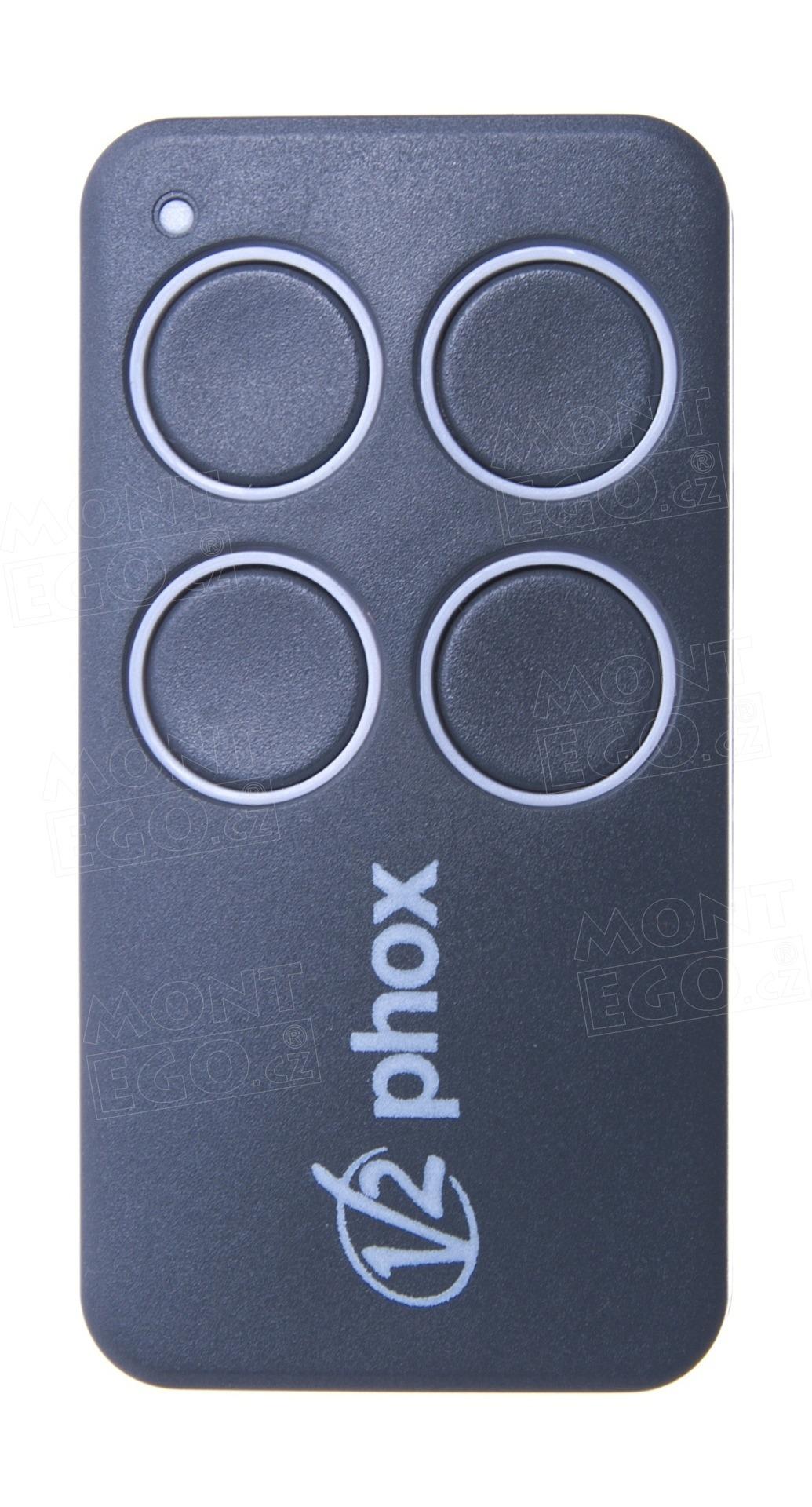 Ovládač V2 PHOX4-433, kanálový dálkový ovladač vrat V2 FOX4