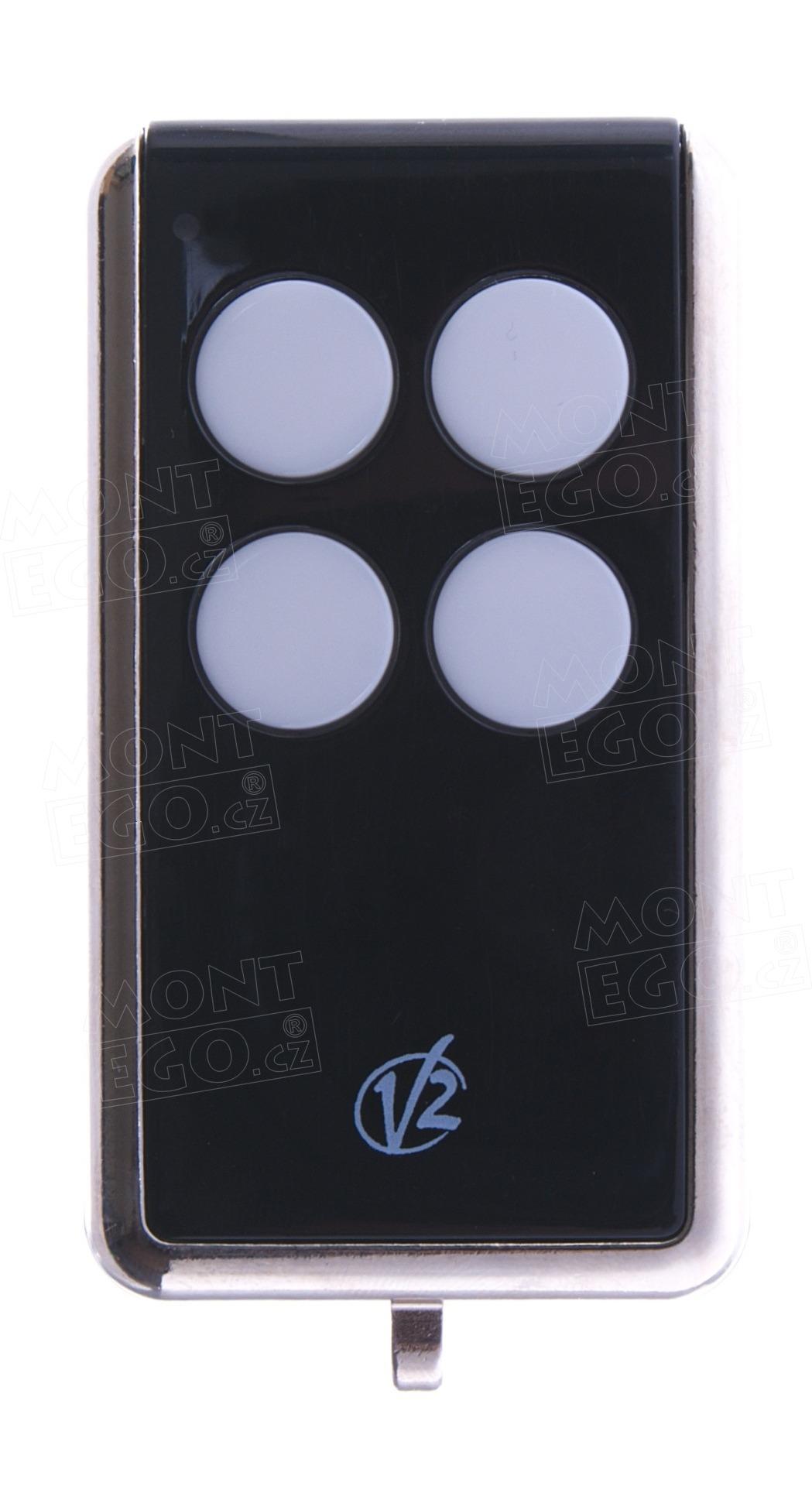 Dálkový ovládač V2 MATCH-B pro naklonování ovládačů s pevným kódem na 433,92 MHz, černý